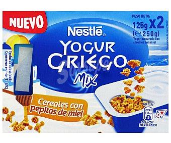 Nestlé Yogur Griego Mix Cereales con Miel 2x125g