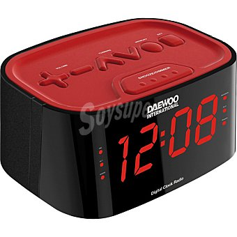 LAUSON R-890 Radio portátil am/fm en color negro y rojo