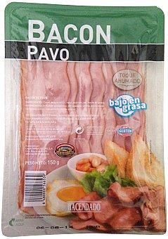 HACENDADO Bacon pavo lonchas PAQUETE 150 g