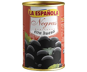 La Española Aceitunas negras con hueso 160 gramos
