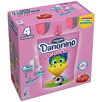 Danonino Danone Danonino para llevar de fresa 4 unidades de 70 g