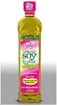 La Española Aceite de semillas Soy Plus Omega 3 Botella 1 l
