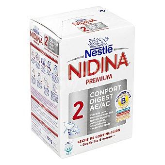 Nidina Nestlé Leche 2 de continuación en polvo Confort Digest 750 g
