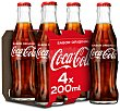 Refresco de cola clásica Pack 4 botellines x 20 cl Coca-Cola