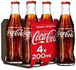 Refresco de cola Pack 4 uds. x 20 cl Coca-Cola