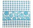 Paño de cocina con estampado de cuadros y frutas color azul, 380g., 100% algodón, AUCHAN. 380g. Auchan