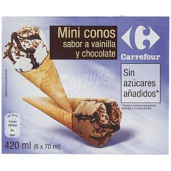 Carrefour Mini conos sin azucar 6 ud