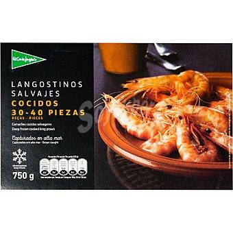 El Corte Inglés Langostino salvaje cocido 30-40 piezas Estuche 750 g neto escurrido