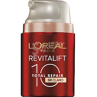 Dermo Expertise L'Oréal Paris Crema Revitalift Total Repair 10 BB multi-perfeccionador hidratante anti-edad tarro 50 ml con toque de color claro SPF-20 Tarro 50 ml