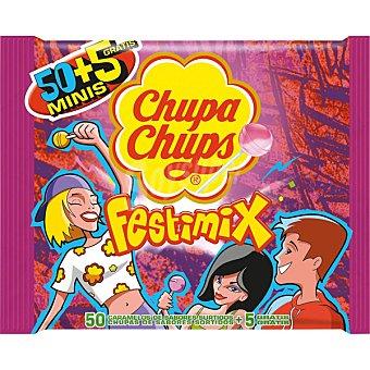 Chupa Chups Mini Festimix sabores surtidos  50 unidades bolsa 330 g