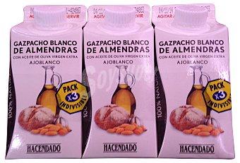 Hacendado Ajoblanco (gazpacho de almendras) 3 x 330 cc