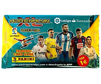 Panini Sobres Adrenalyn de la temporada 2017-2018