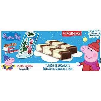 Virginias Peppa Pig turrón de chocolate relleno de crema de leche Calidad Suprema  tableta 150 g