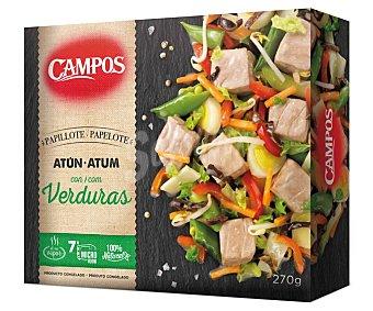 Campos Papillote de atún y verduras cocidas al vapor 270 g