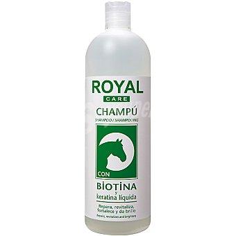 ROYAL CARE Champú con biotina y keratina líquida frasco 1 l repara revitaliza fortalece y evita la caída del cabello Frasco 1 l