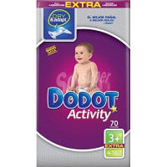 Dodot Activity Pañal Activity 4-10 kg Talla 3 Extra 70 unid