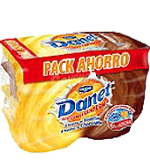 Danet Danone Natillas chocolate vainilla Pack de 8 uds
