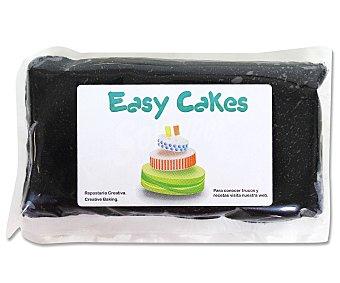EASY CAKES Pasta de azúcar de cobertura y modelage de color negro 250 gramos