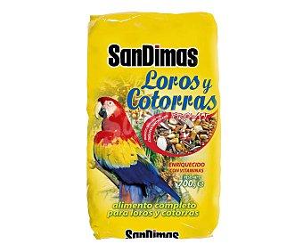 San Dimas Alimento completo para loros y cotorras 700 gramos