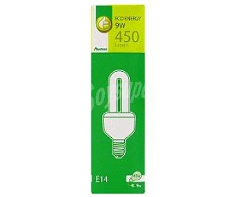 Productos Económicos Alcampo Bombilla bajo consumo tubo 9 Watios , casquillo E14 (fino), luz cálida 1 unidad