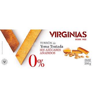 Virginias Turron 0% yema sin azúcar 200 g