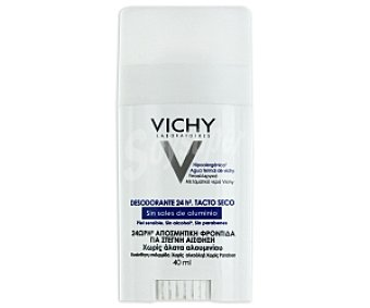 Vichy Desodorante24 Horas,tacto seco sin sales de aluminio, sin alcohol y sin parabenos 40 Mililitros