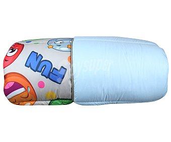 NATURALS Emoticonos Edredón microfibra 100% poliéster reversible estampado/liso para cama individual, 180x260cm. NATURALS.