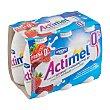 Yogur líquido con lcasei de fresa 0% 6 uds x 100 ml Actimel Danone