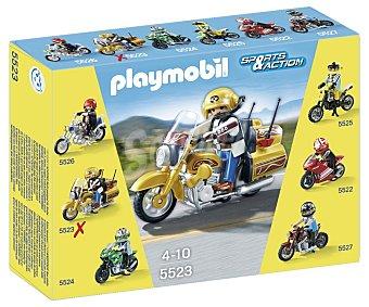 PLAYMOBIL Motocicleta de la serie Sport & Action modelo 5523 de 1 unidad