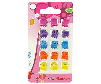 Auchan Mini Pinzas para el pelo Kid 15 Unidades