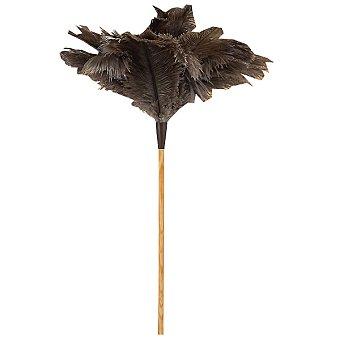 MIRKO Plumero de avestruz con varilla de madera de 40 cm de longitud