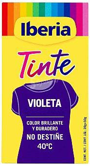 Iberia Tinte para la ropa violeta 40ºC 2 sobres + fijador 1 ud