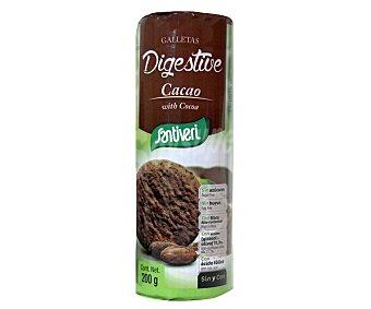 Santiveri Galletas digestivas con cacao y sin azúcar añadido Paquete 200 g