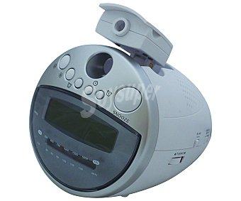 Auchan Radio reloj despertador digital con sintonizador de radio am/fm, alarma y Display CR113C