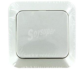 EUROBRIC 2000 Interruptor conmutador empotrable de color blanco, Serie athene 1 Unidad