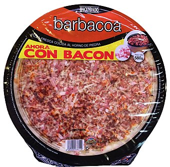 HACENDADO PIZZA FRESCA BARBACOA CON BACON FAMILIAR 580 g