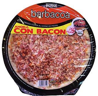 HACENDADO PIZZA FRESCA BARBACOA CON BACON FAMILIAR 580 g
