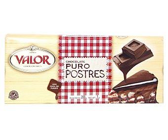 VALOR Chocolate puro especial para postres 200 gramos