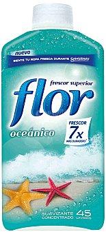Flor Suavizante concentrado oceánico Botella 45 dosis