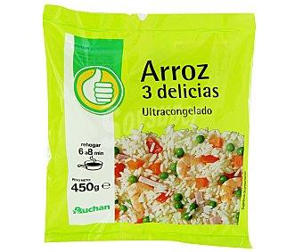 Productos Económicos Alcampo Arroz tres delicias ultracongelado 450 g