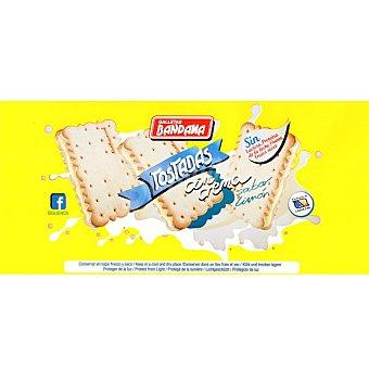 Bandama galletas tostadas rellenas de limón sin lactosa, huevos ni frutos secos paquete 200 g