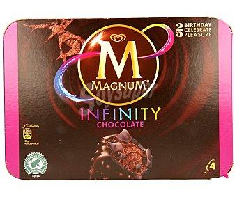 Magnum Helado infinity chocolate 4 unidades de 110 mililitros