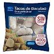Bacalao congelado punto de sal tacos (sin espinas) Paquete 400 g peso neto escurrido Maredeus