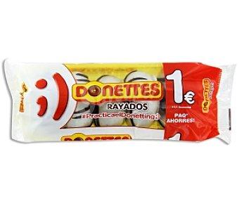 Donettes Mini rosquillas bañadas de chocolate blanco 5 unidades 110 Gramos