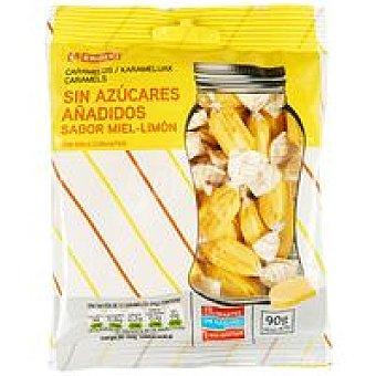 Eroski Caramelo de miel-limón sin azúcar Bolsa 90 g
