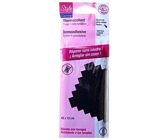 STYLE Cinta termoadhesiva reparadora color negro para tejidos textiles finos y/o elásticos, 45x12 centímetros 1 unidad