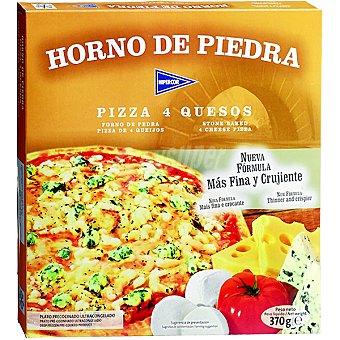 HIPERCOR Horno de Piedra pizza 4 quesos masa fina y crujiente  estuche 370 g