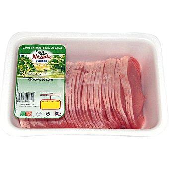 NEVADA Escalope de lomo de cerdo peso aproximado Bandeja 1 kg