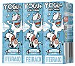 Yogur natural Pack 3x200 ml Feiraco
