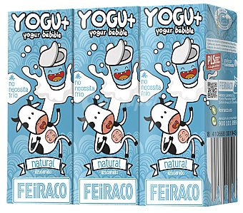 Feiraco Yogur natural Pack 3x200 ml